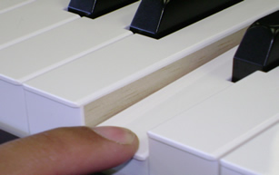 Clavinova Real Wood keys